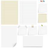 Papier-Set Lizenzfreie Stockbilder