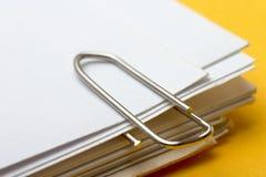 papier spinacz zdjęcia stock