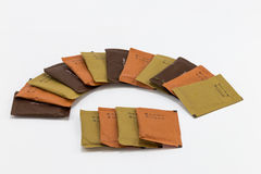 Papier Sugar Bag Design Stockfotografie