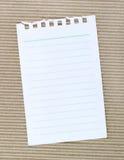 Papier sur le carton ondulé Image libre de droits