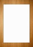 Papier sur le fond en bois Photos stock