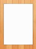 Papier sur le fond en bois Images stock