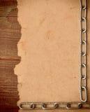 Papier sur le fond en bois de cadre Photo libre de droits