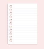 Papier sur le fond rose Photographie stock libre de droits