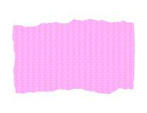 Papier texturisé rose - déchiré Photos libres de droits