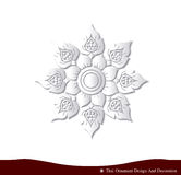 Papier thaïlandais 3D de carte de conception d'ornement naturel Photo stock
