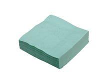 Papier tissues. Turquois papier tissues, isolated on white Stock Photo