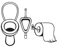 Papier toaletowy i toaleta ilustracja wektor