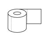 Papier Toaletowy ikona Fotografia Royalty Free