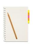 Papier und Anzeigenanmerkung mit Bleistift Lizenzfreies Stockbild