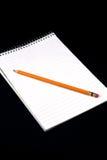 Papier und Bleistift Stockfotos