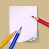 Papier und Bleistifte Stockfoto