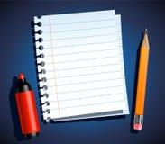 Papier und Briefpapier Stockfoto