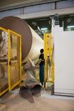 Papier- und Massentausendstel - Langsiebmaschine Stockfotografie