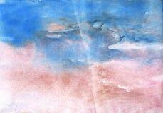 Papier vague bleu d'aquarelle de fleur de maïs photo libre de droits
