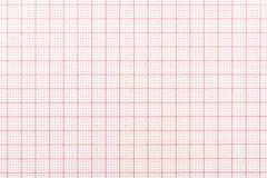 Papier vide d'électrocardiogramme Photo libre de droits
