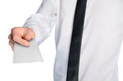 Papier vide d'homme d'affaires image libre de droits