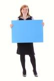 Papier vide de jeune de beauté d'affaires prise de femme Images libres de droits