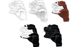 Papier violent de main, vecteur illustration de vecteur
