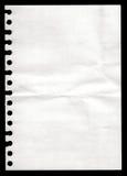 Papier von einem Notizbuch Stockfotos