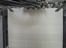 Papier w odsadzki Drukowej maszynie obraz royalty free