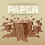 Papier wird mit Baum gemacht Stockbild
