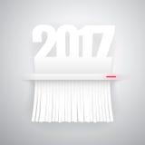 Papier 2017 wird in modernen Reißwolf geschnitten Stockfoto