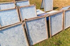 Papier wurde durch Sonnenlicht getrocknet stockfotografie