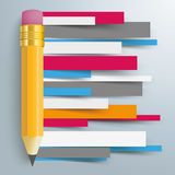 Papier Wykłada broszurka ołówek Infographic Fotografia Stock