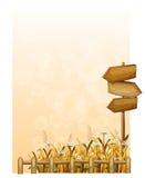 Papier z drewnianymi arrowboards Zdjęcie Stock