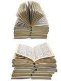Papier z powrotem rezerwuje używać kolażu białego odosobnionego tło Obrazy Royalty Free