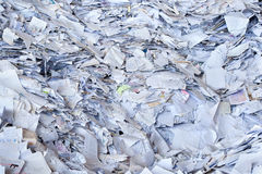 Papierabfall für bereiten auf Stockbild