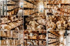 Papierabfall für bereiten gesetzte Collage auf Stockfotografie