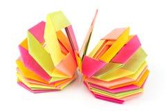 Papierachteckformen des bunten Origamis Lizenzfreie Stockfotos