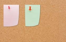 Papieranmerkung über Holzfaserplatte lizenzfreies stockbild