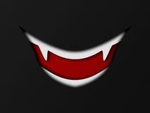 Papierartvampirslächeln Stockbild