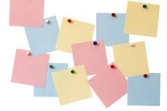 Papieraufkleber, farbige Knöpfe Stockfoto