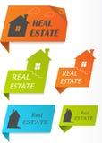 Papieraufkleber mit Häusern, Abbildung Lizenzfreies Stockfoto