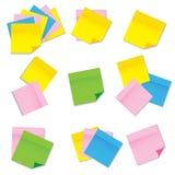 Papieraufkleber, Set vektor abbildung