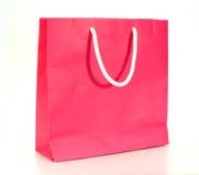 Papierbeutel des rosafarbenen Einkaufens Stockbilder
