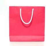 Papierbeutel des rosafarbenen Einkaufens Lizenzfreie Stockbilder