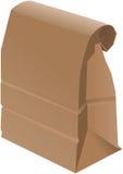 Papierbeutel - gefaltet Stockfoto