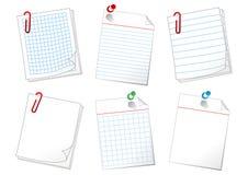 Papierblätter vektor abbildung