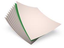 Papierblätter, 3D Lizenzfreie Stockfotografie