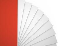 Papierblätter, 3D Stockbild