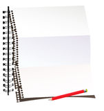 Papierblatt mit Bleistift Stockfotografie