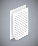 Papierblattikonen Lizenzfreie Stockbilder