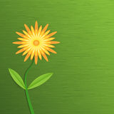 Papierblume des abstrakten Gerbera Lilien des Tales und der Hyazinthen auf einem grünen Hintergrund der Blätter Lizenzfreie Abbildung
