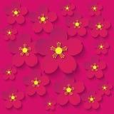 Papierblumen-Burgunder-Hintergrund Lizenzfreie Stockbilder