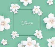 Papierblumen-Rahmenhintergrund Lizenzfreies Stockbild